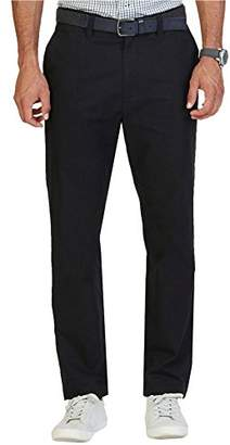 Nautica Men's Flat Front Slim Fit Twill Chino Marina Stretch Pant