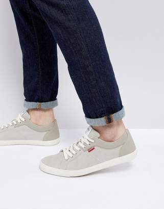 Levi's Levis Woods Beige Suede Trainers