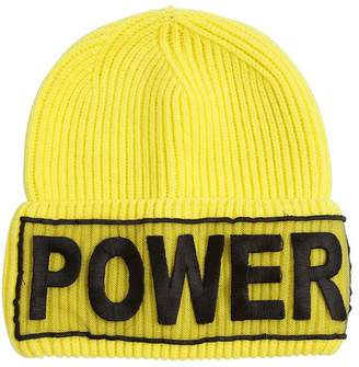 Versace Power Knitted Wool Beanie Hat