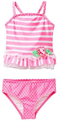 Love U Lots Butterfly Ruffle Tankini (Baby & Toddler Girls)