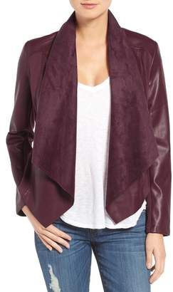 KUT from the Kloth 'Ana' Faux Leather Drape Front Jacket $98.50 thestylecure.com