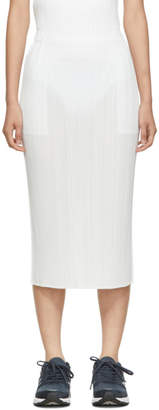 Pleats Please Issey Miyake White MC June Skirt