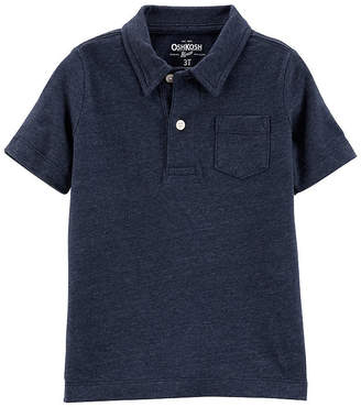 Osh Kosh Oshkosh Boys Spread Collar Short Sleeve Polo Shirt - Toddler