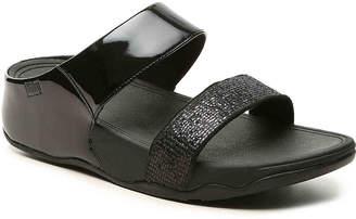 Women's Lulu Super Glitz Wedge Sandal -Black $90 thestylecure.com