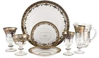 Arte Italica 23-Piece Vetro Gold Partial Dinner Service
