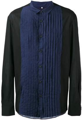 Ziggy Chen pleated bib shirt