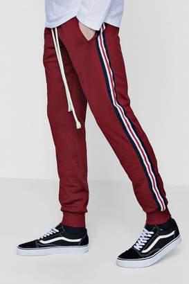 boohoo Tricot Slim Fit Sports Joggers