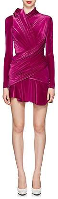 Balenciaga Women's Ruched Velvet Minidress