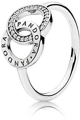 Pandora Women Silver Signet Ring - 196326CZ-56