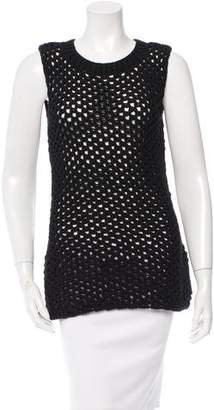 Derek Lam Sleeveless Open Knit Top