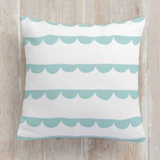 Ruffled Ribbon Square Pillow