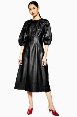 Topshop Womens **Leather Dress By Boutique - Black