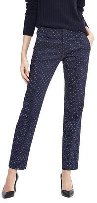 Ryan-Fit Navy Dot Slim-Straight Pant $98 thestylecure.com