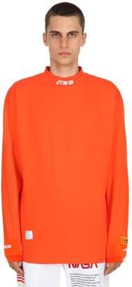 Heron Preston Long Sleeved Cotton Turtleneck T-Shirt