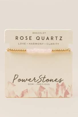 francesca's Power Stone Pull Tie Bracelet - White