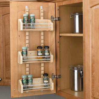 Rev-A-Shelf - 4ASR-18 - Medium Cabinet Door Mount Wood Adjustable 3-Shelf Spice Rack