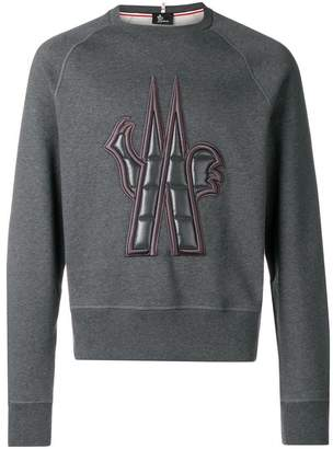 Moncler embossed logo sweatshirt