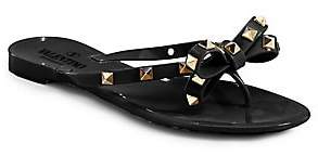 Valentino Women's Rockstud Bow Jelly Thong Sandals