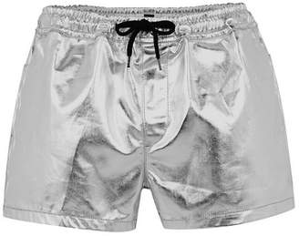 Topman Mens Silver Pull On Shorts