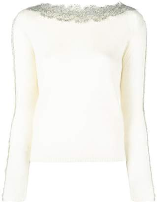 Ermanno Scervino embellished neck jumper