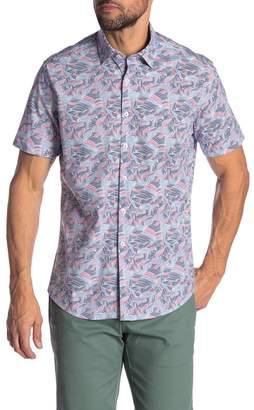Stone Rose Abstract Print Short Sleeve Shirt