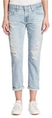 AG Jeans Ex-Boyfriend Slim Distressed Jeans