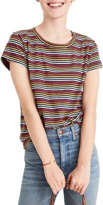 Madewell Rainbow Stripe Ex-Boyfriend Tee