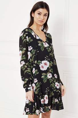 Next Lipsy Floral Print Smock Dress - 4 c9a9cbfc2