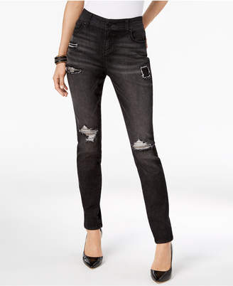INC International Concepts I.n.c. Rip & Repair Skinny Jeans, Created for Macy's