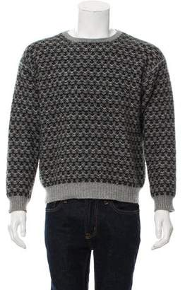 Barneys New York Barney's New York Woven Crew Neck Sweater