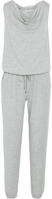 Calvin Klein Underwear - Motion Hooded Wool-blend Jersey Jumpsuit - Stone $130 thestylecure.com