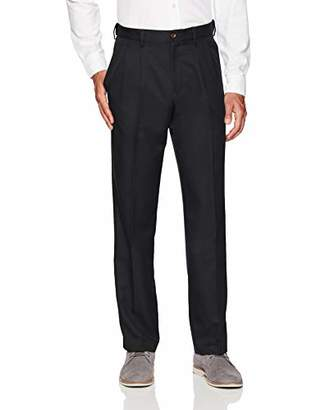 Amazon Essentials Men's Expandable Waist Classic-Fit Pleated Dress Pants