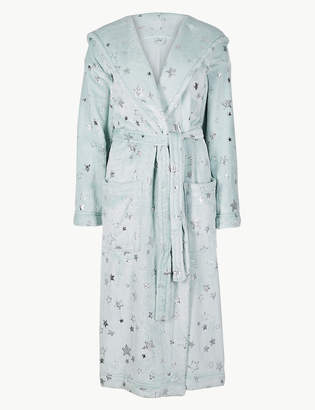 1e8ec83568 M S CollectionMarks and Spencer Fleece Star Print Dressing Gown