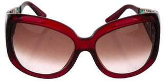 Salvatore Ferragamo Embellished Tinted Sunglasses