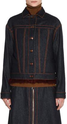 Agnona Wool Denim Jacket