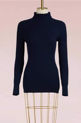 Victoria Beckham Ribbed Turtleneck Sweater