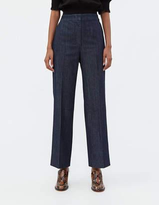 ALEXACHUNG Alexa Chung Denim Flat Front Trouser