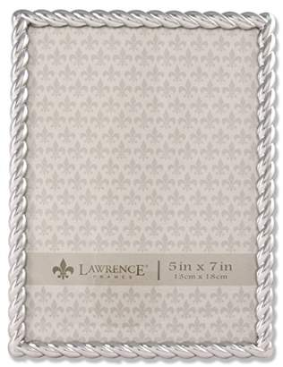 Lawrence Frames 710057 Silver Metal Rope Picture Frame