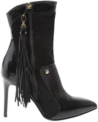 Just Cavalli Black Suede Ankle boots