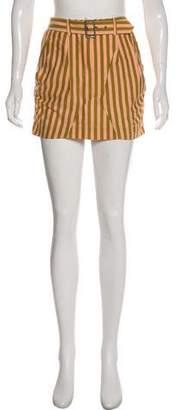 Philosophy di Alberta Ferretti Striped Mini Skirt