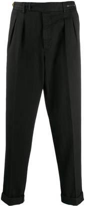 Pt01 herringbone tapered trousers