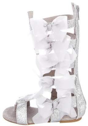 Joyfolie Girls' Metallic Gladiator Sandals