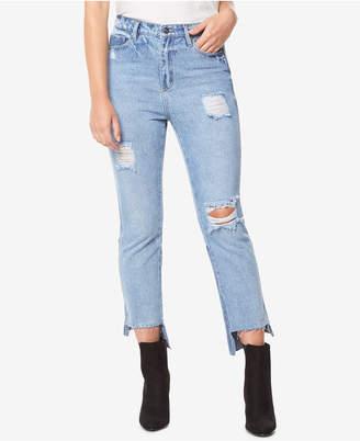 Buffalo David Bitton Cotton High-Rise Ripped Denim Jeans