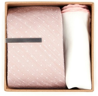 The Tie Bar Bhldn Blush Dot Gift Set