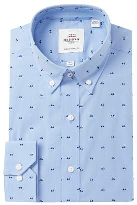 Ben Sherman Scooter Print Stretch Tailored Skinny Fit Dress Shirt