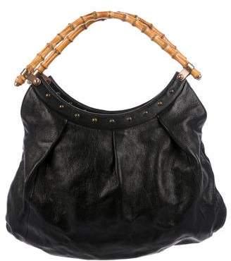 Gucci Studded Bamboo Handle Bag