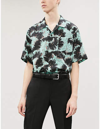 Givenchy Patterned relaxed-fit cotton shirt