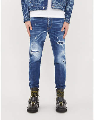 DSQUARED2 Kenny ripped slim-fit mid-rise jeans