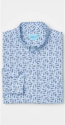 J.Mclaughlin Westend Modern Fit Shirt in Fish