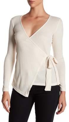 Bobeau Wrap Knit Shirt $48 thestylecure.com